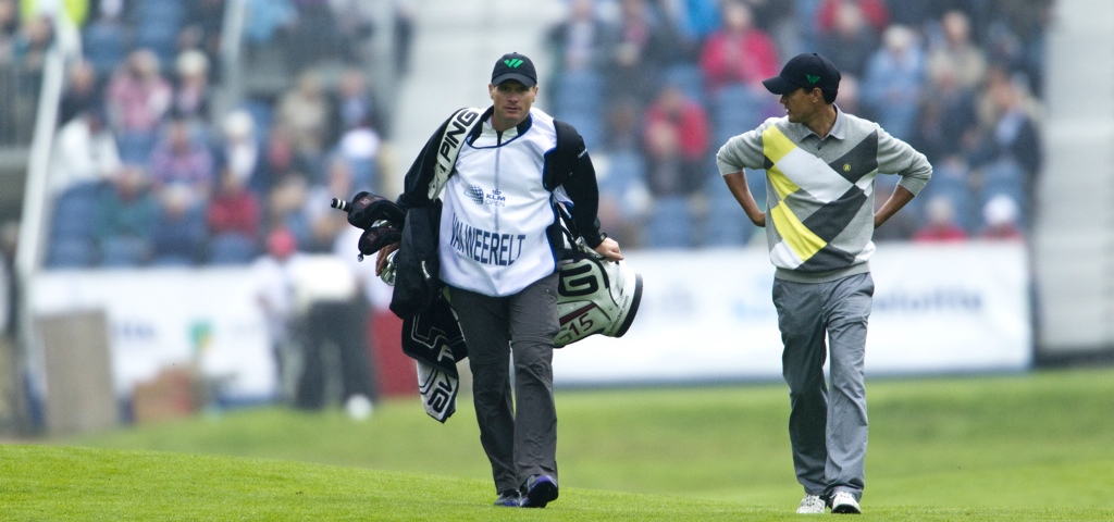 PGA Golfer Inder van Weerelt at the KLM Open